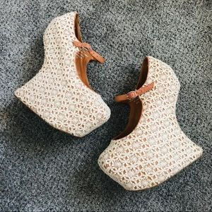 Jeffrey Campbell lace platforms
